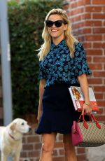 REESE WITHERSPOON Leaves Her Office in Beverly Hills 08/26/2016