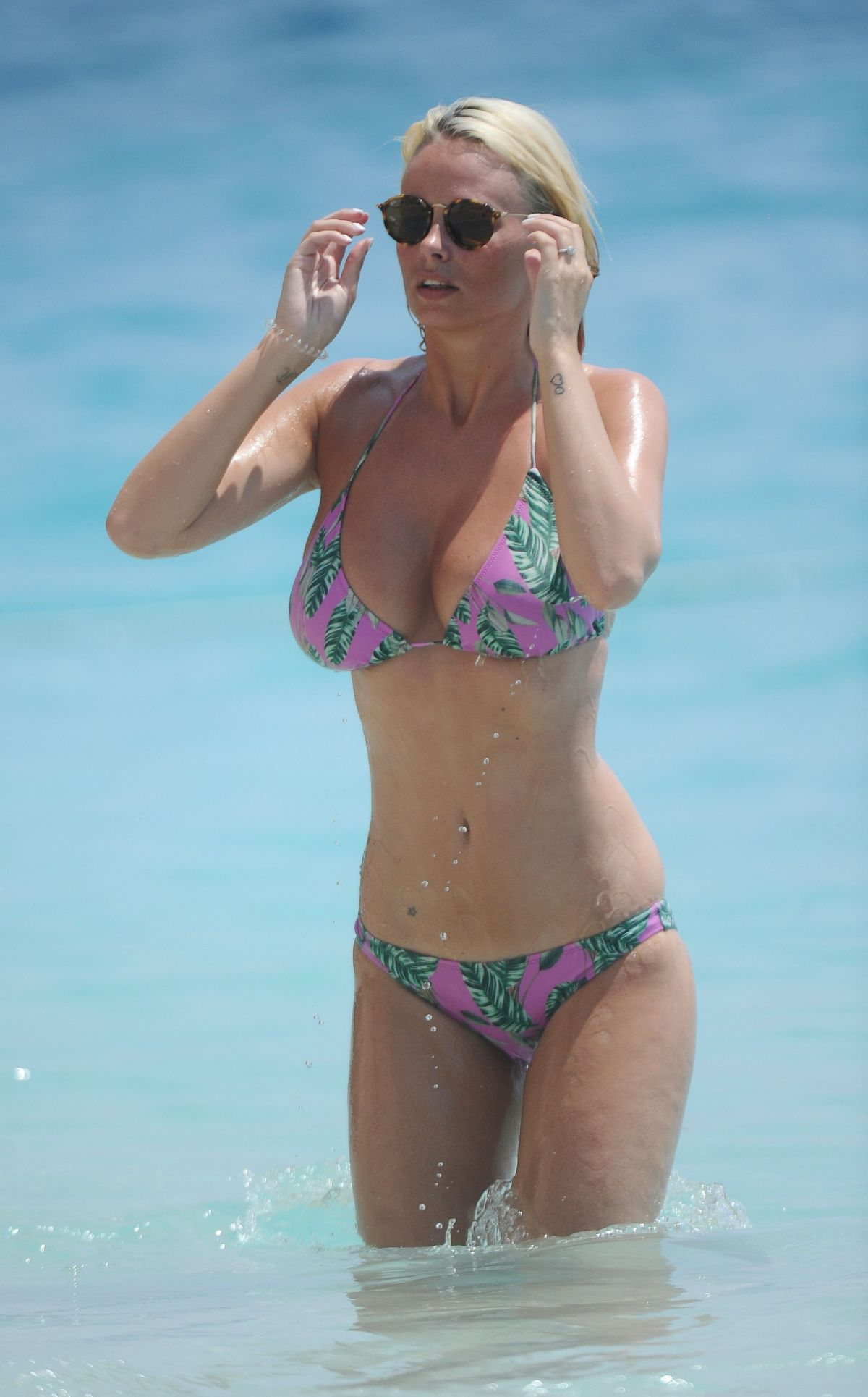 RHIAN SUGDEN in Bikini at a Beach in Kalkan, Turkey 08/10/2016