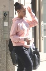 RIHANNA Leaves Her Apartment in New York 08/24/2016