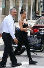 RIHANNA Leaves Her Hotel in New Yotk 08/25/2016