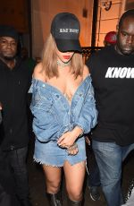 RIHANNA Night Out in London 08/19/2016