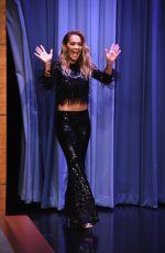 RITA ORA at Tonight Show Starring Jimmy Fallon in New York 08/30/2016