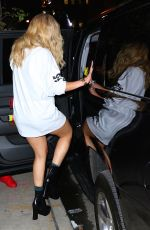 RITA ORA Heading to Dinner in New York 08/23/2016