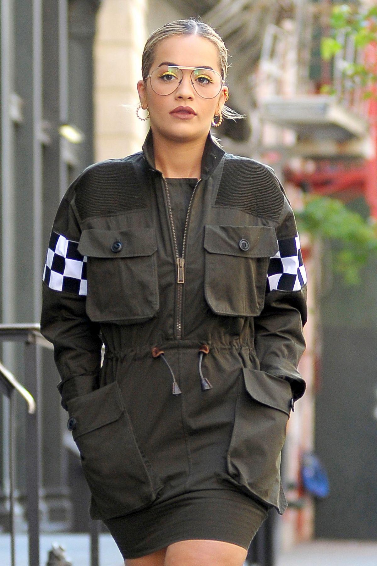 RITA ORA Leaves Her Apartment in New York 08/04/2016