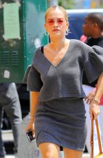 RITA ORA Out in New York 08/04/2016