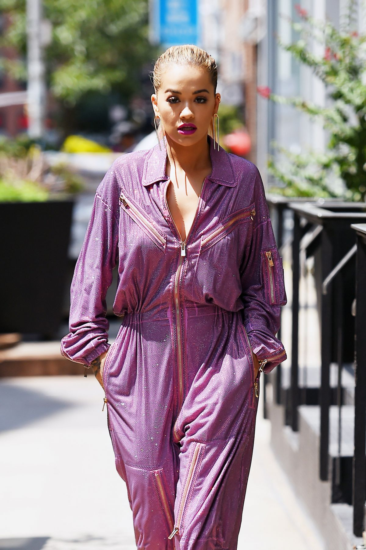 RITA ORA Out in New York 08/05/2016