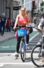 RITA ORA Rding a Bike Out in New York 08/03/2016