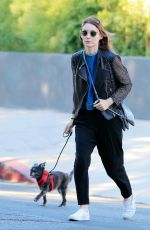 ROONEY MARA Out with Her Dog in New York 08/17/2016