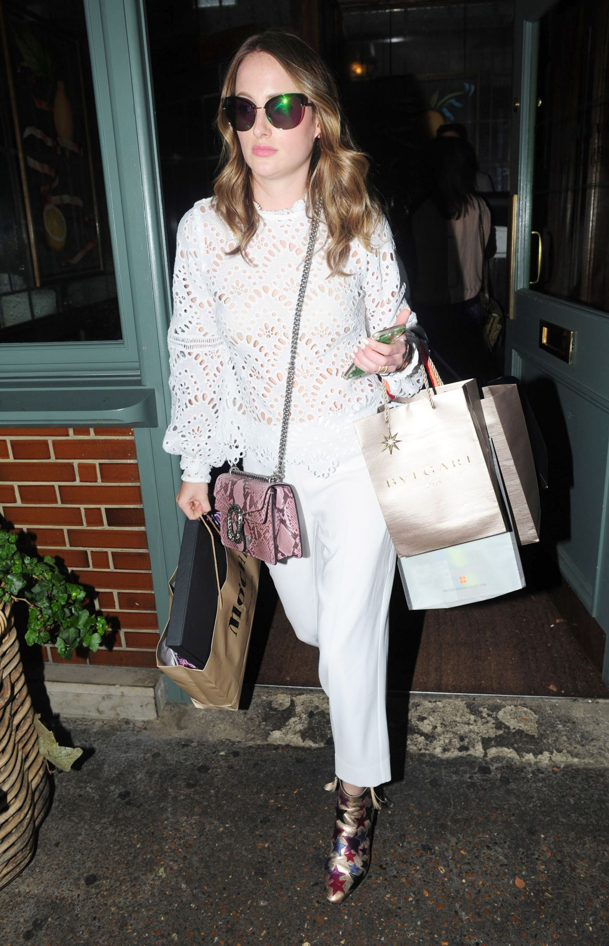 ROSIE FORTESCUE at Ivy Garden in Chelsea 08/03/2016