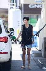 RUBY ROSE at a Gas Station in West Hollywood 08/14/2016