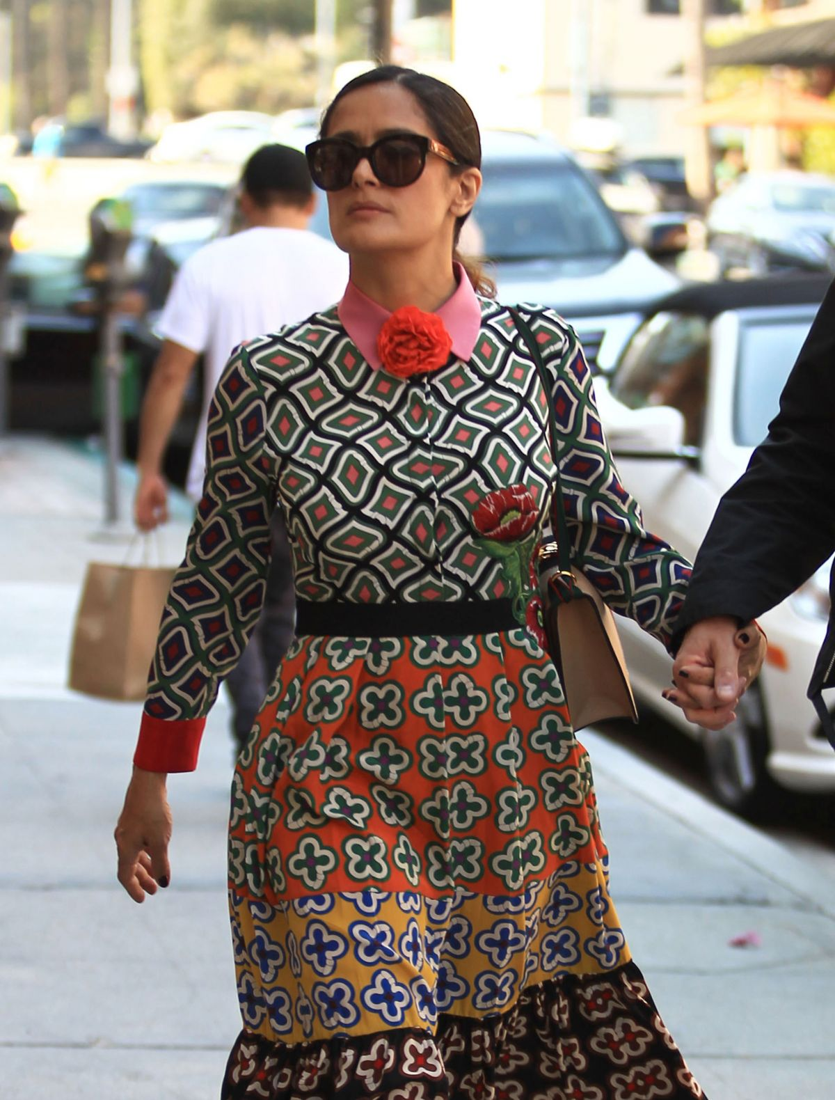 SALMA HAYEK Out and About in Beverly Hills 08/29/2016