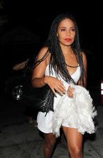 SANAA LATHAN Night Out in West Hollywood 08/21/2016