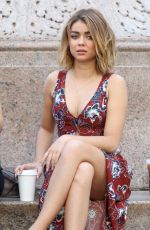 SARAH HYLAND and ARIEL WINTER on the Set of
