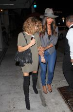 SARAH HYLAND and NICOLE SCHERZINGER Night Out in West Hollywood 08/16/2016