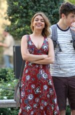 SARAH HYLAND on the Set of