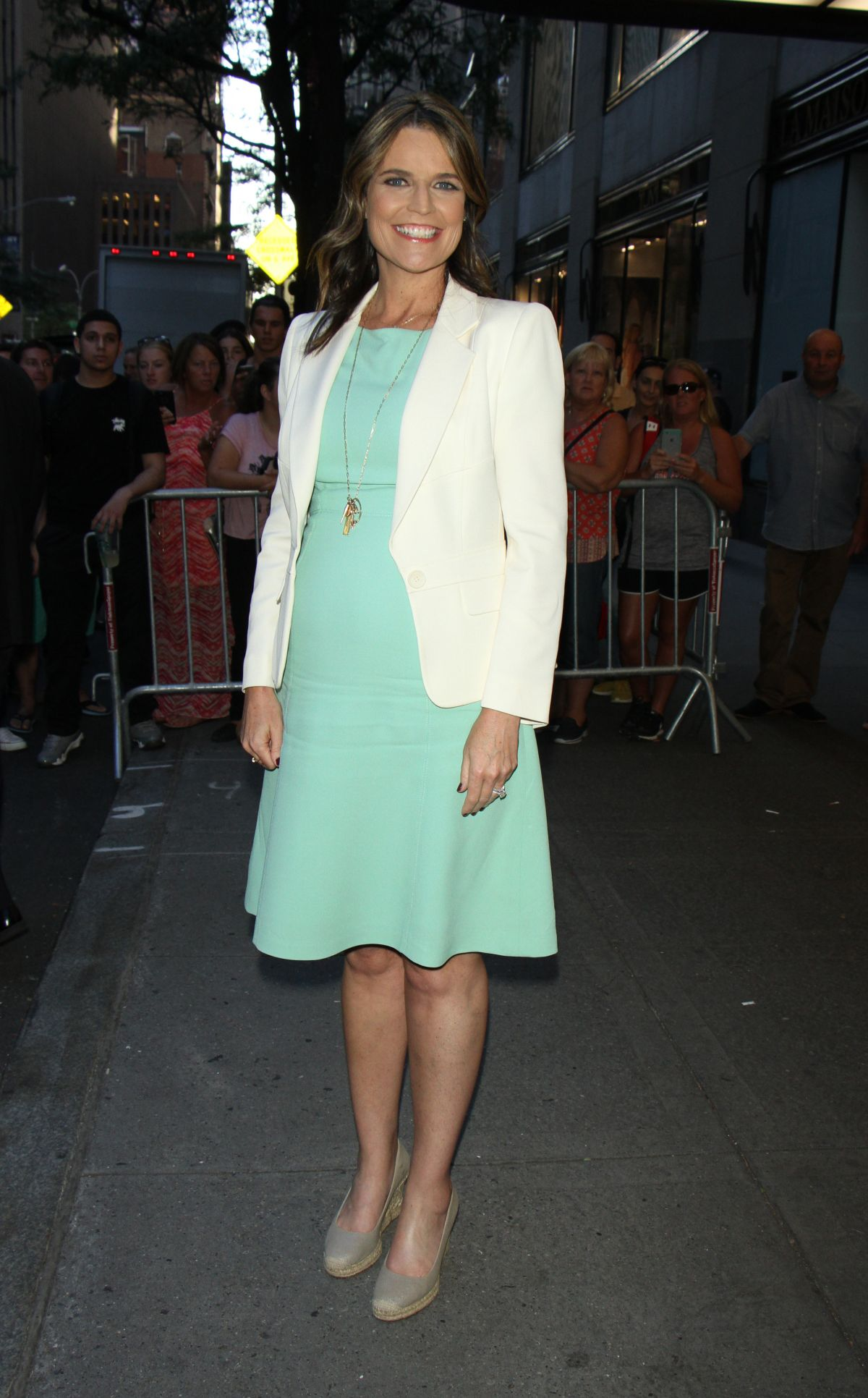 SAVANNAH GUTHRIE at NBC Studios in New York 08/03/2016