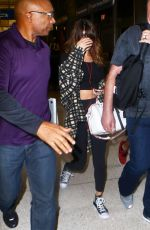 SELENA GOMEZ at Los Angeles International Airport 08/14/2016