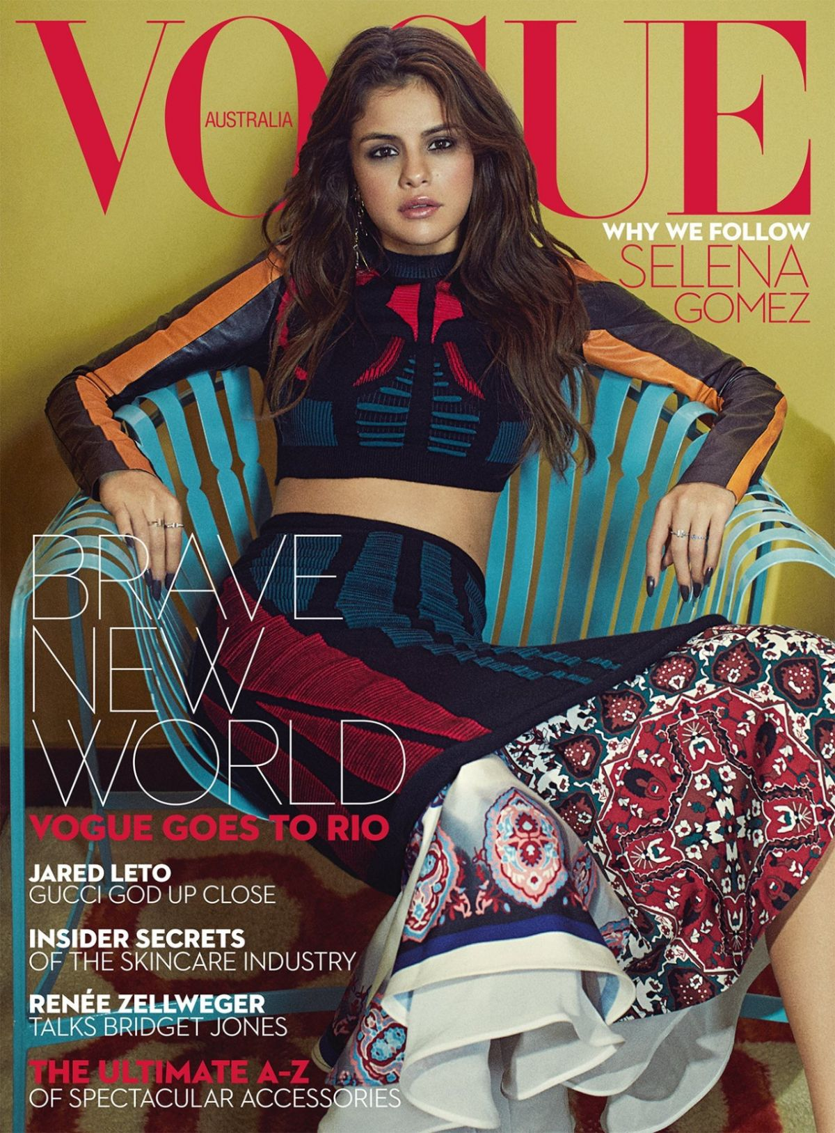 SELENA GOMEZ in Vogue Magazne, Australia September 2016 Issue