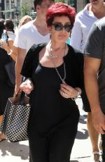 SHARON OSBOURNE Out and About in Beverly Hills 08/17/2016