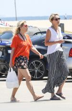 SHARON STONE Out and About in Venice Beach 08/11/2016