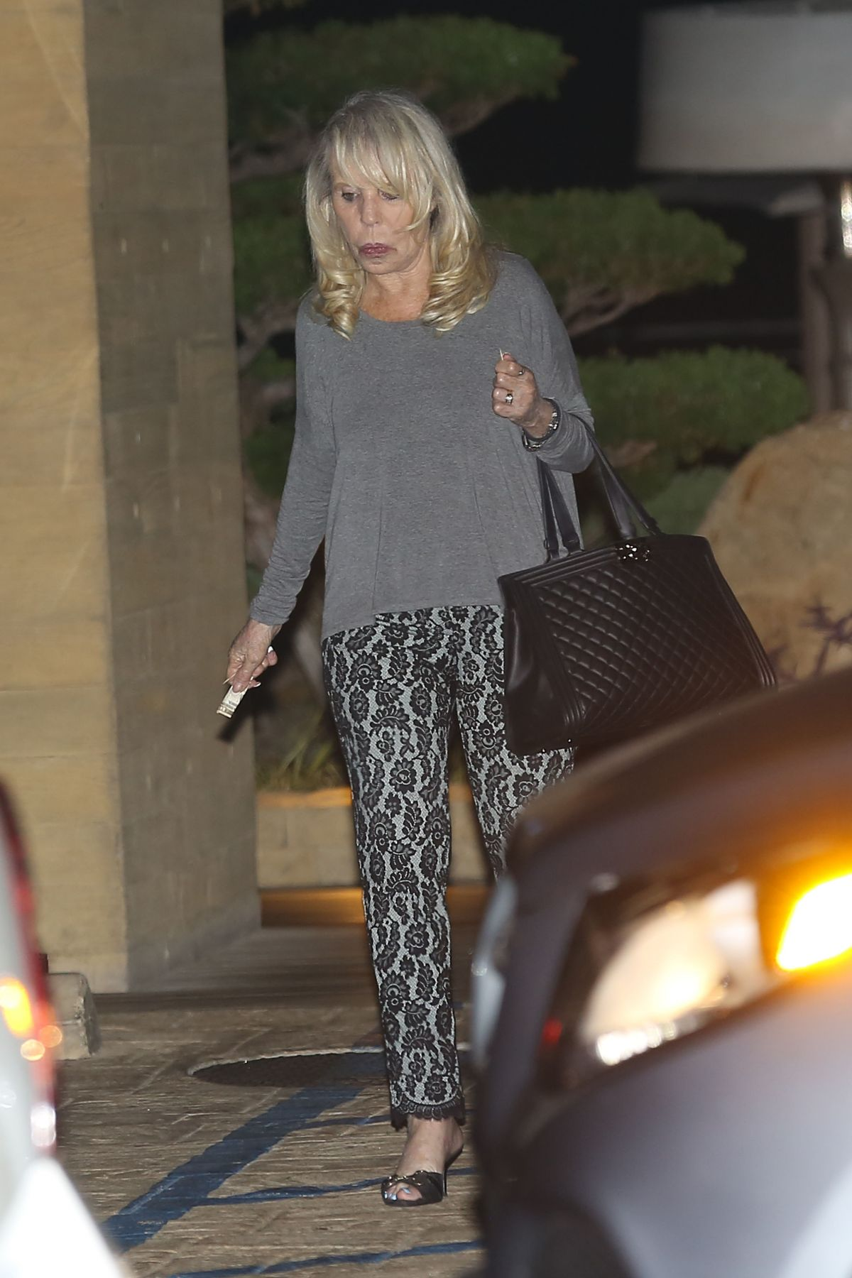 SHELLY STERLING Leaves Nobu in Malibu 0//18/2016