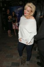 SHERIDAN SMITH Leaves Savoy Theatre in London 08/05/2016