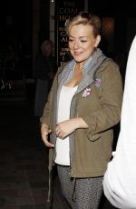 SHERIDAN SMITH Leaves Savoy Theatre in London 08/11/2016