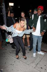 SOFIA RICHIE at Nice Guy in West Hollywood 08/24/2016
