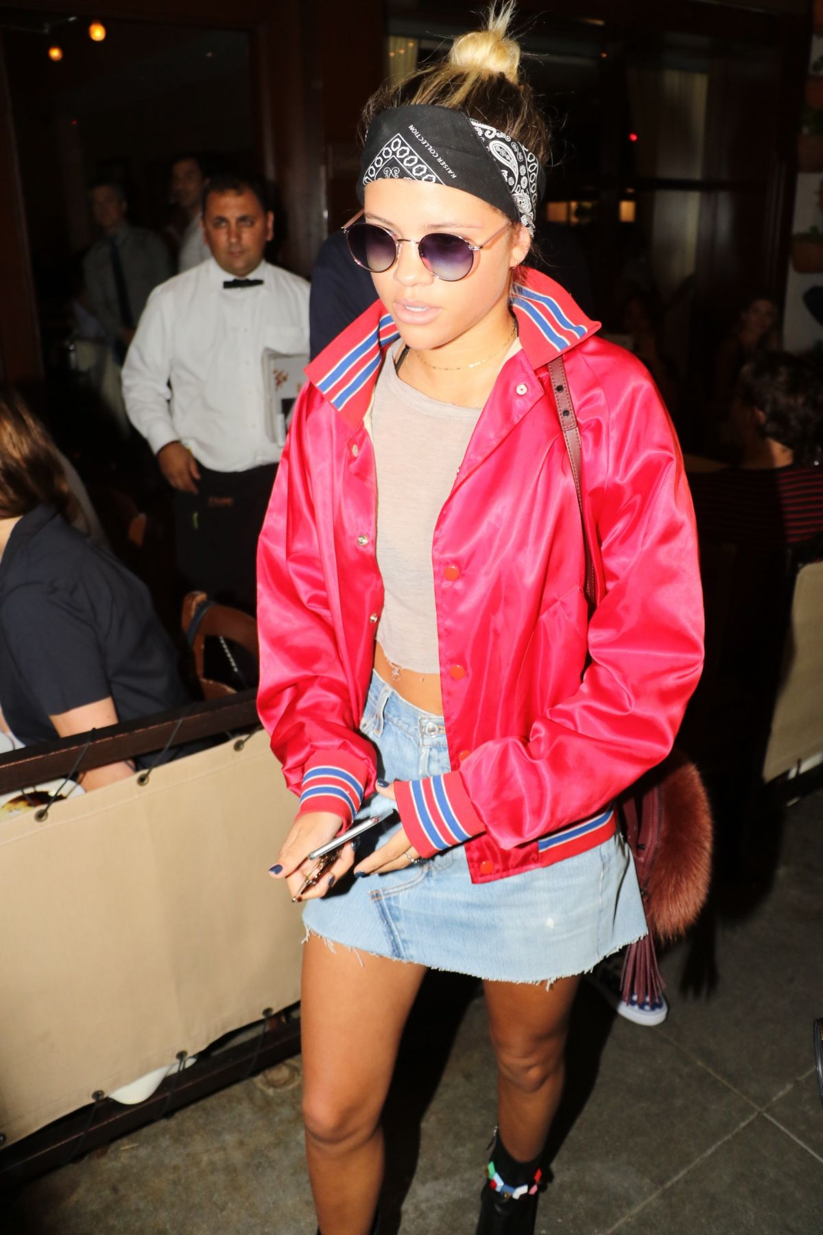 SOFIA RICHIE Leaves Il Pastaio in Beverly Hills 08/15/2016