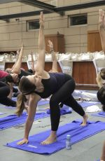 SOPHIA BUSH at a Private Yoga Event Lollapalooza Weekend in Chicago 07/30/2016