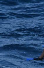 SOPHIE MARCEAU in Bikini at a Boat in Capri 07/31/2016
