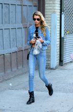 STELLA MAXWELL in Jeans Out Shopping in New York 08/30/2016