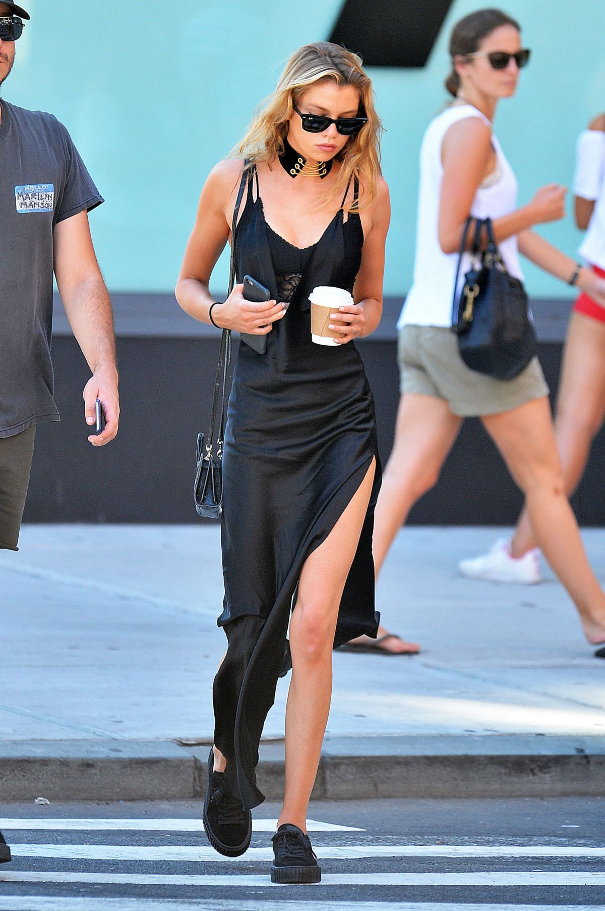 STELLA MAXWELL Out and About in New York 08/29/2016