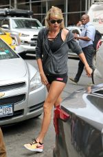 TAYLOR SWIFT in Shorts Arrives at a Gym in New York 08/10/2016