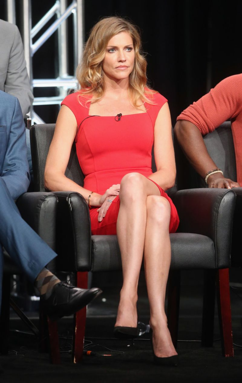 TRICIA HELFER at Fox Press Line at 2016 Summer TCA Tour in Beverly Hills 08/08/2016