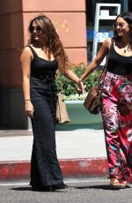 VANESSA and STELLA HUDGENS Leaves a Doctors Office in Beverly Hills 08/15/2016