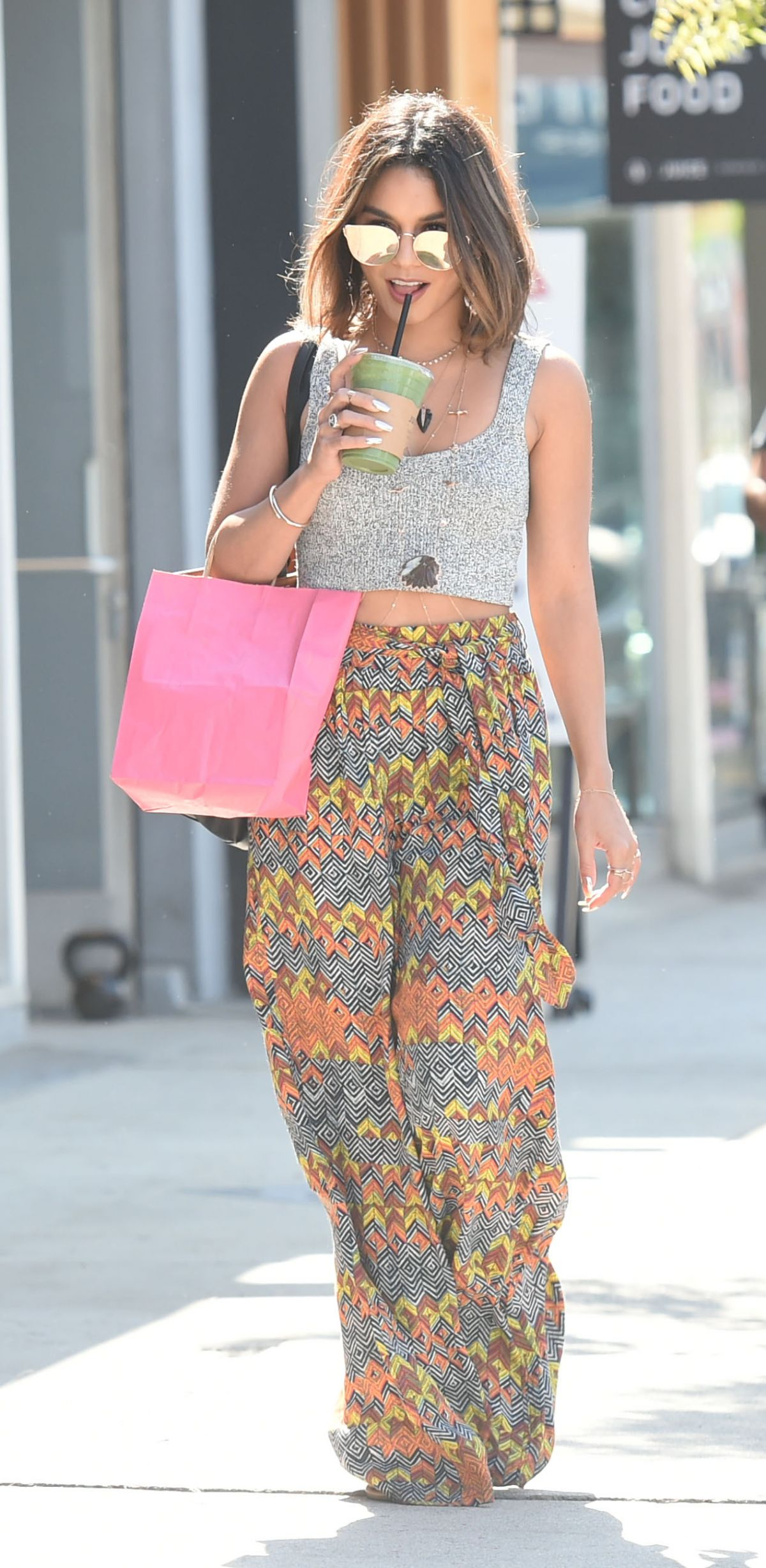 VANESSA HUDGENS Out Shopping in Los Angeles 08/26/2016