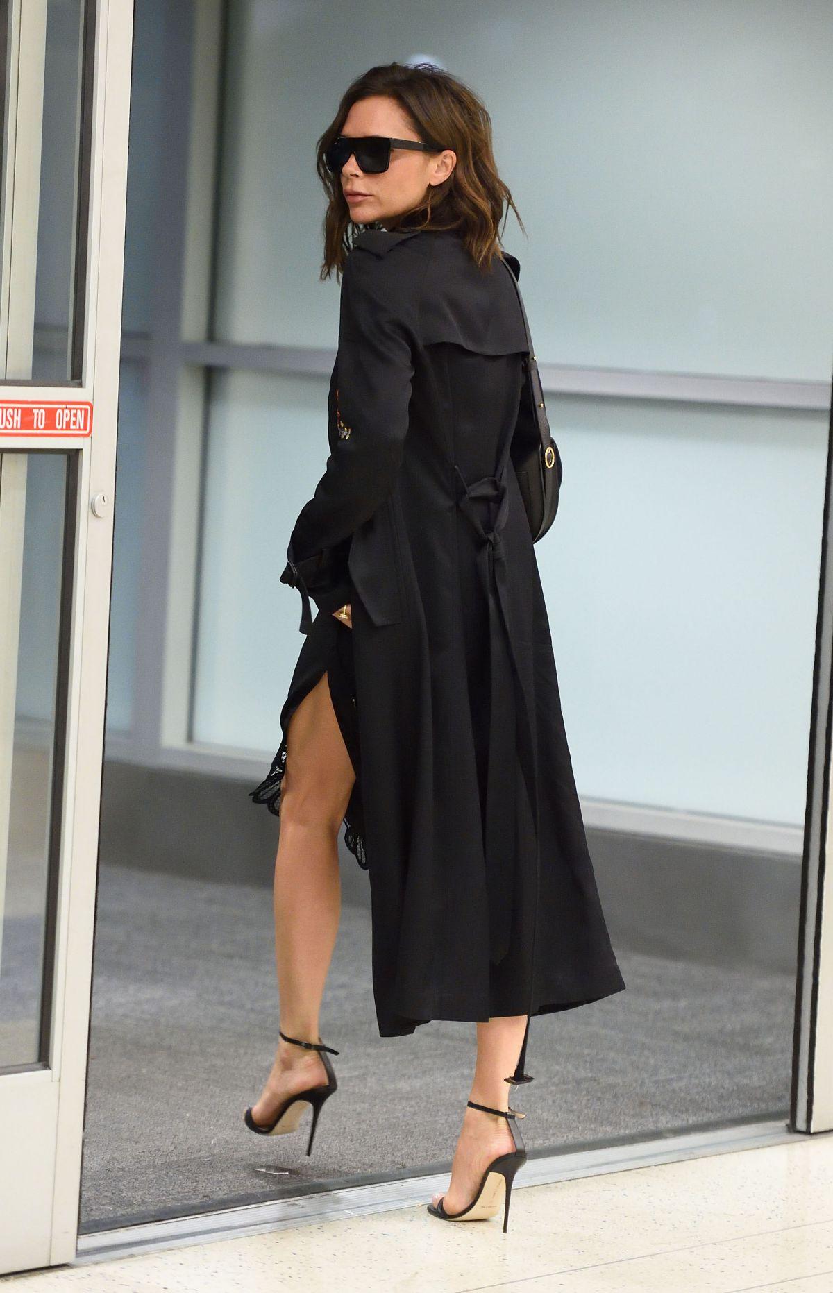 VICTORIA BECKHAM at JFK Airport in New York 08/04/2016 ... Victoria Beckham