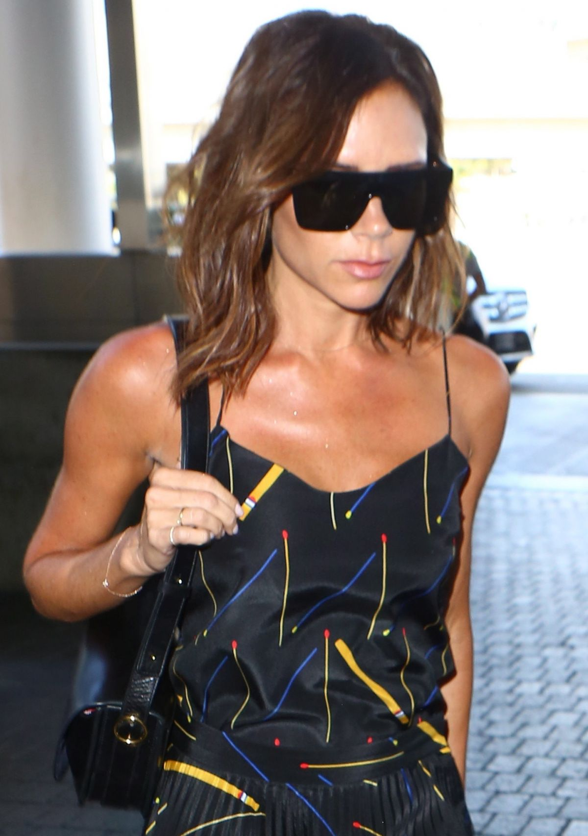 VICTORIA BECKHAM at LAX Airport in Los Angeles 07/31/2016