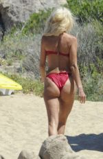 VICTORIA SOLVSTEDT in Swimsuit at a Beach in Porto Cervo 08/03/2016