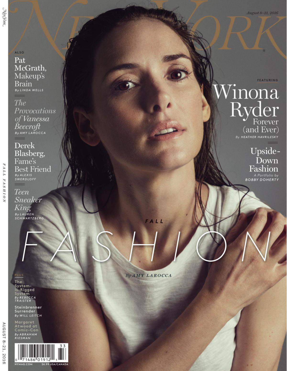 WINNONA RYDER in New York Magazine, August 2016