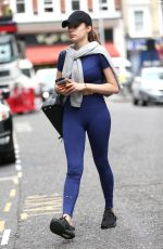 XENIA TCHOUMITCHEVA Arrives at a Gym in London 08/04/2016