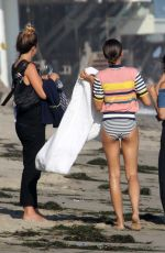 ZENDAYA COLEMAN on the Set of a Music Video on the Beach in Santa Monica 08/01/2016