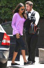 ZOE SALDANA Out in Beverly Hills 08/05/2016