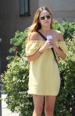 ZOEY DEUSTCH Leaves a Nail Salon in Beverly Hills 08/24/2016