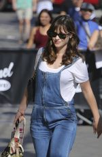 ZOOEY DESCHANEL Arrivea at Jimmy Kimmel Live in Hollywood 08/30/2016