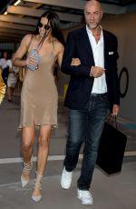 ADRIANA LIMA Arrives at Versace Show at Milan Fashion Week 09/23/2016