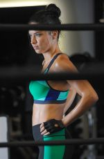 ADRIANA LIMA at a Gym Session Photoshoot in New York 09/062016