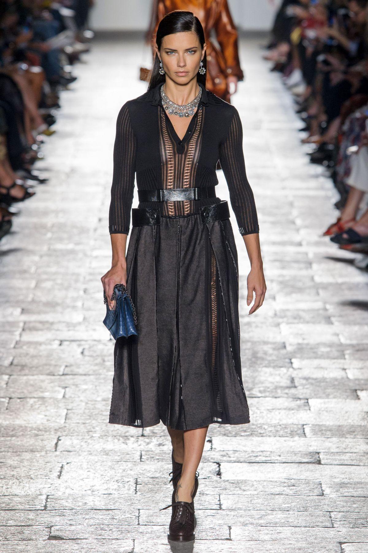 Adriana Lima At Bottega Veneta Spring Summer 2017 Fashion Show At Milan Fashion Week Hawtcelebs