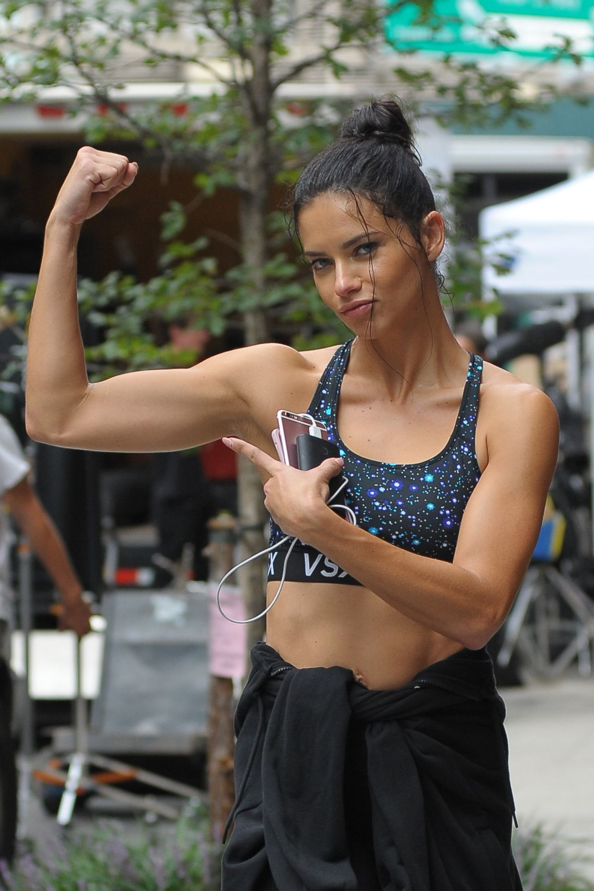 ADRIANA LIMA Leaves a Gym in New York 09/06/2016